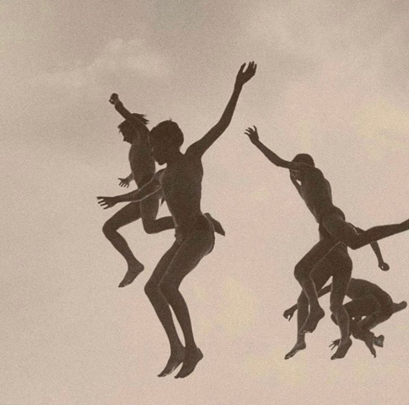 Jumping into water by Gotthard Schuh