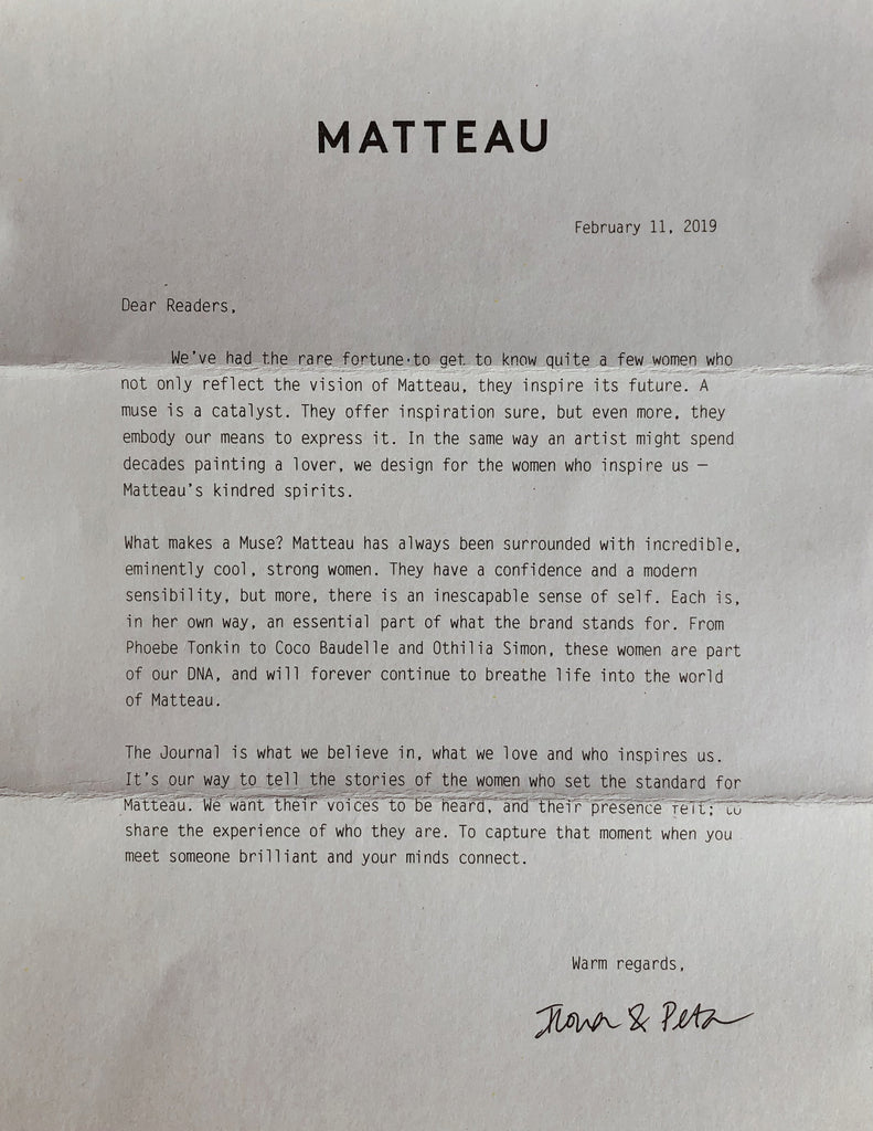 A letter from