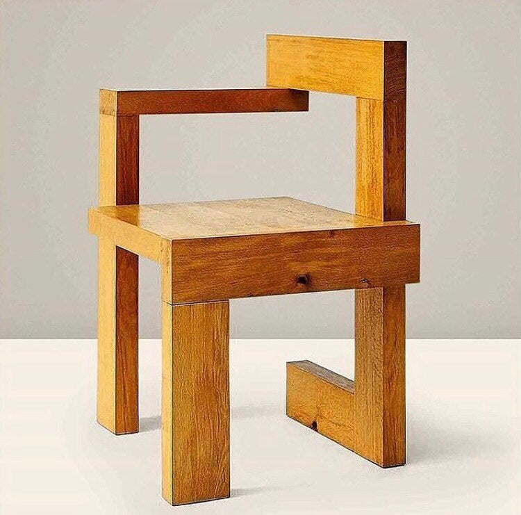 Right-Handed 'Steltman' Chair by Gerrit Rietveld, 1963