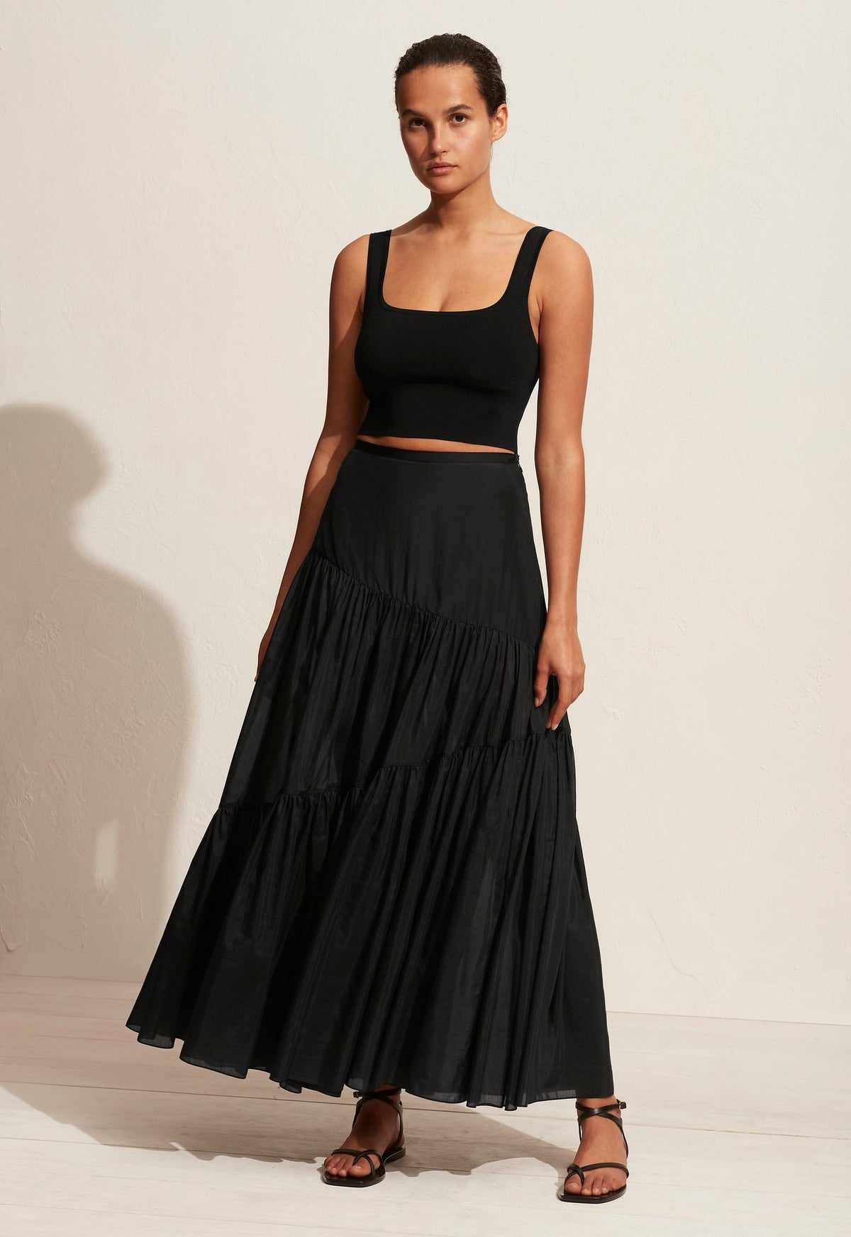 The Asymmetric Tiered Skirt