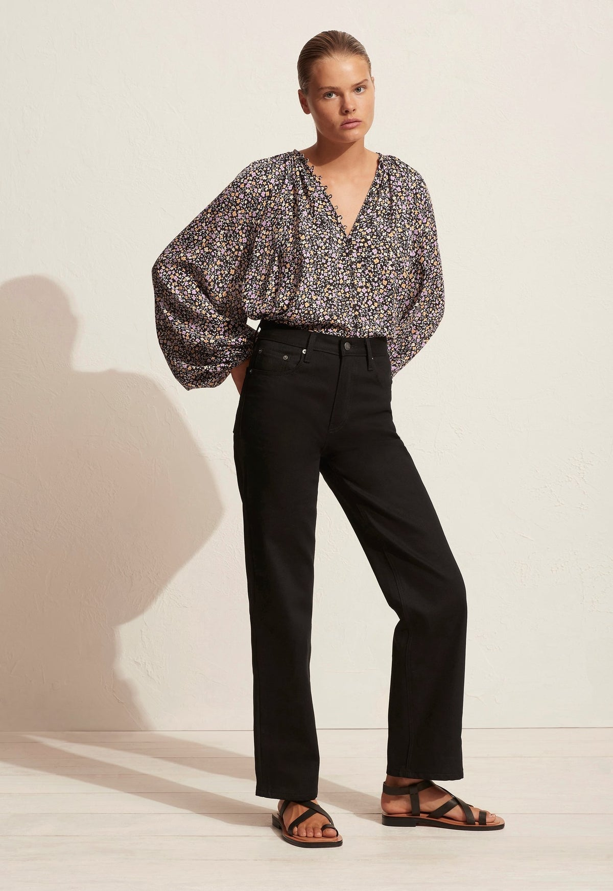 The Blouson Button Blouse