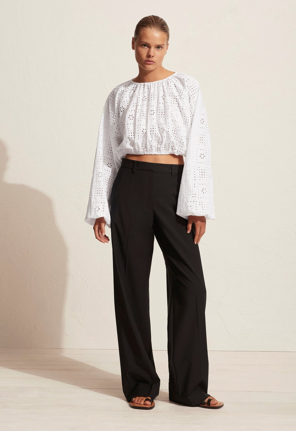 The Crochet Broderie Blouson Blouse
