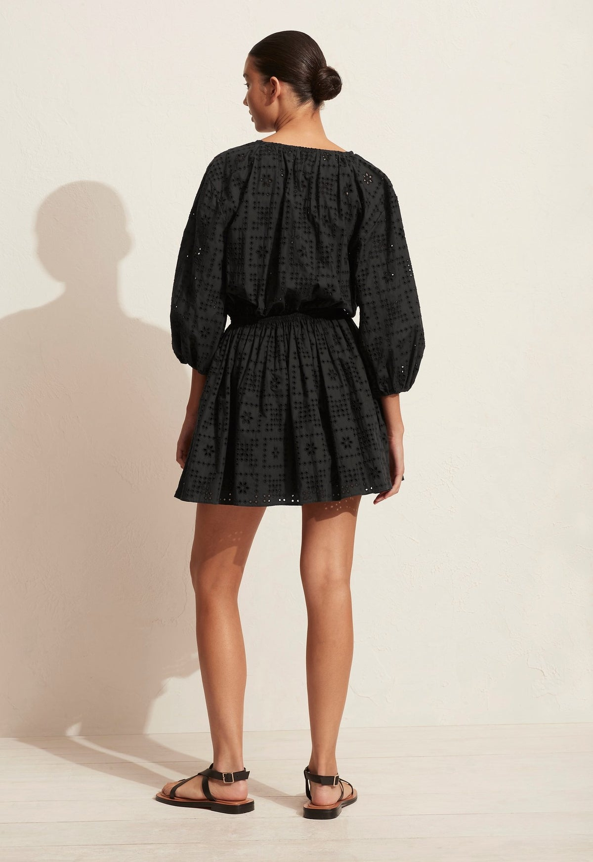 The Crochet Broderie Mini Dress