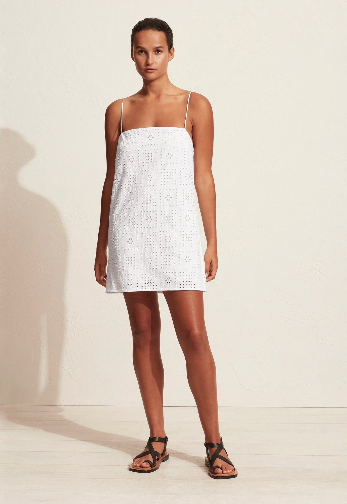 The Crochet Broderie Shift Dress