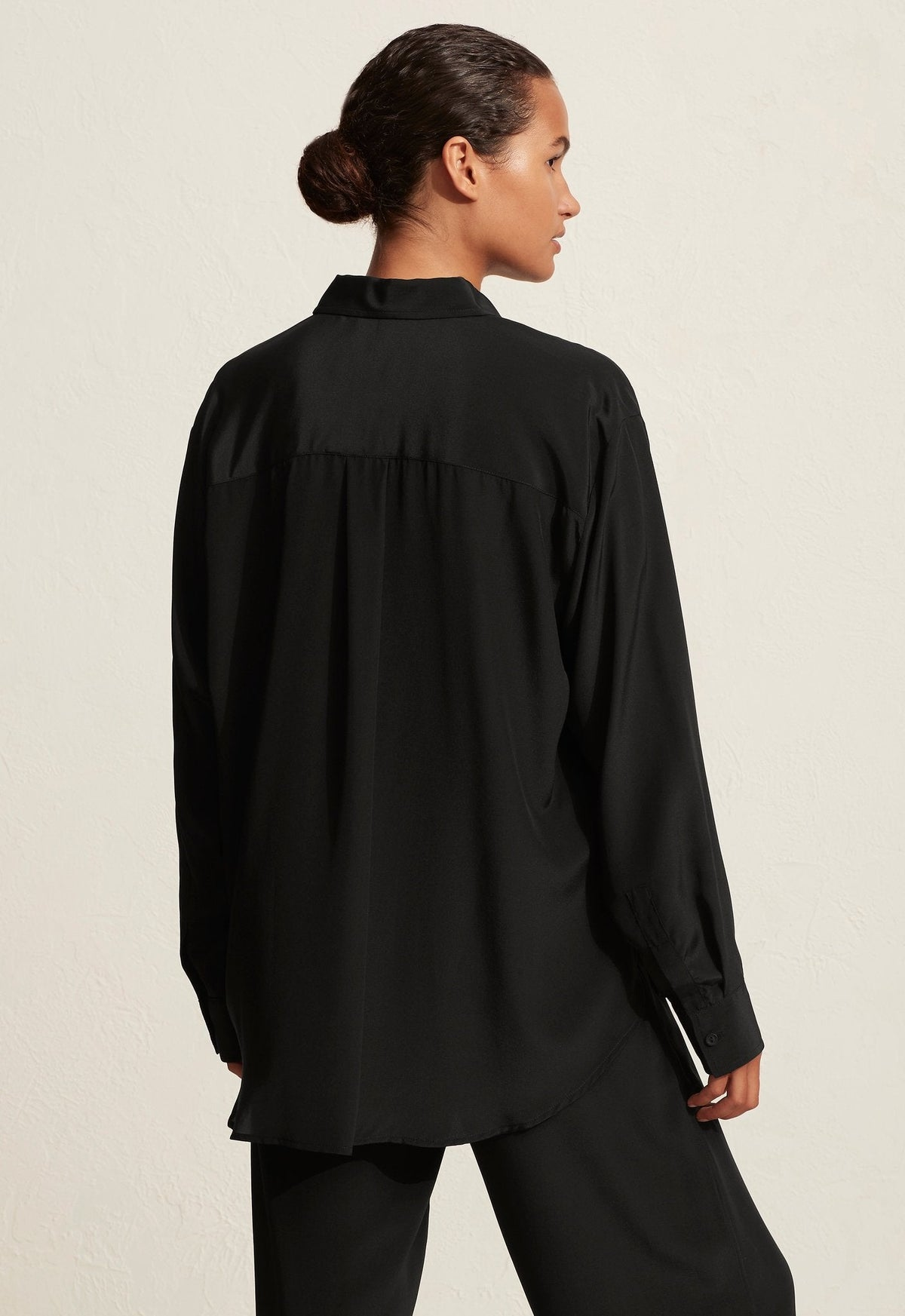 The Long Sleeve Silk Shirt