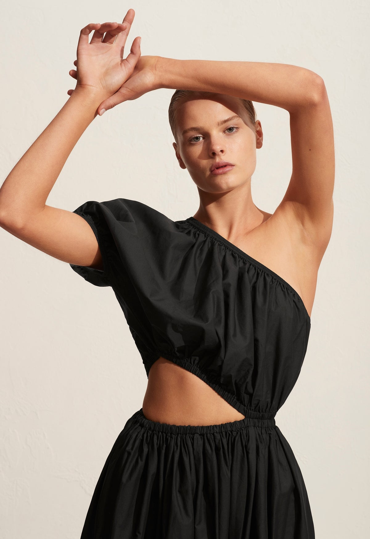 The One Shoulder Cocoon Dress