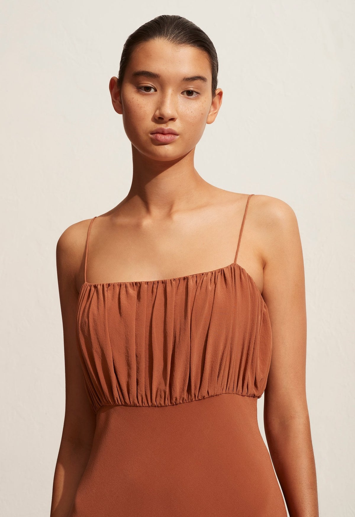 The Rouched Slip Dress