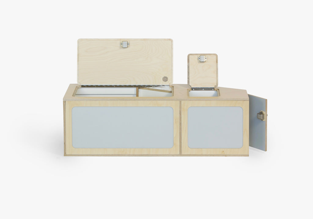 VW kombi camper flat pack storage locker