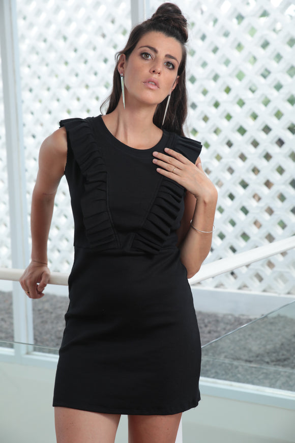 Frill Seeker Dress - Black