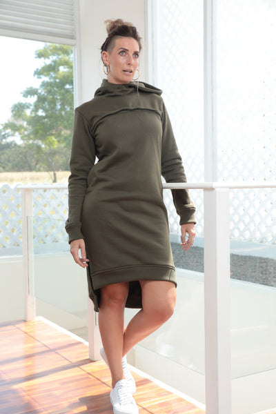 Holla Hoodie Dress - 2 Colours (Custom BF)