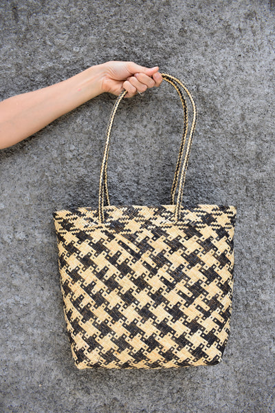 Tribal Rattan Shopper Bag