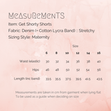 Get Shorty Shorts Measurements