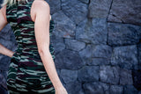 Racer Back Pregnancy Dress - Camo