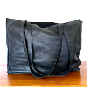 The Vext Leather Oversize Tote