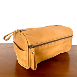 The Drax Leather Toiletries Bag