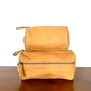 The Arix Leather Toiletries Bag
