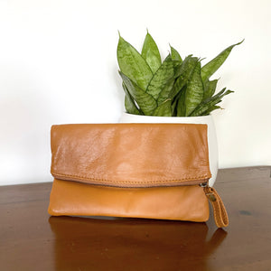 The Croix Suede Pouch