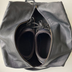 The Maddox Leather Shoe Bag