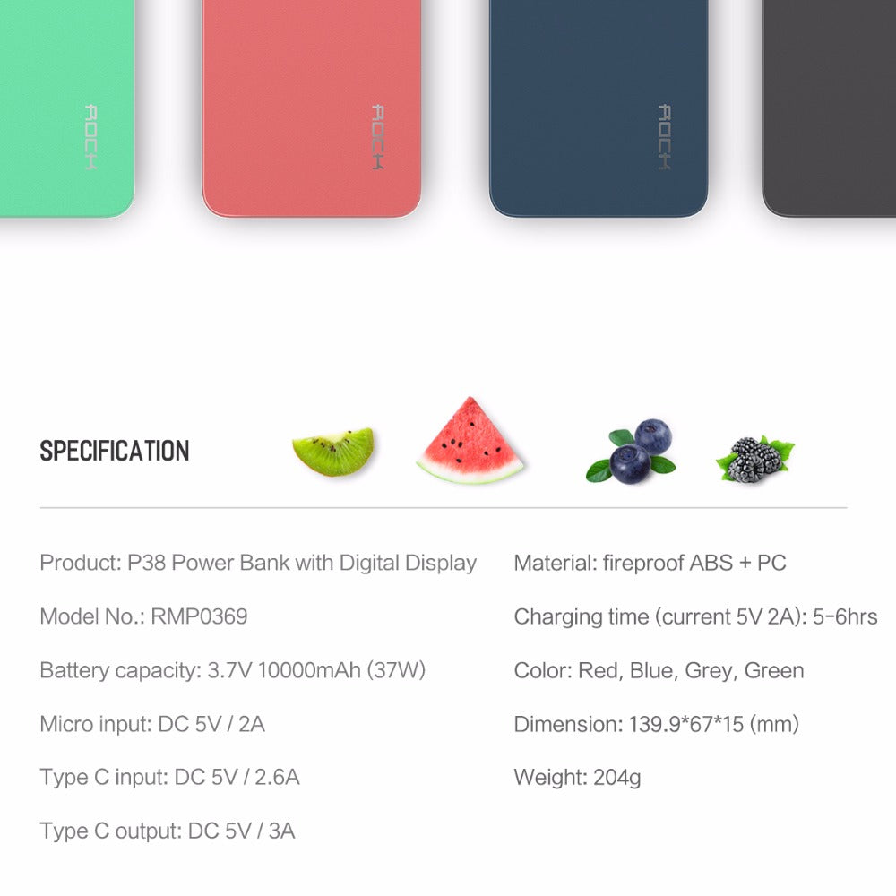 10000mah wireless charging power bank with digital display the quality certification fccemcrohs support quick charge technology size 1387015 weight 240g color greyblueredgreen material anti fire abspc 1betcityfo Choice Image