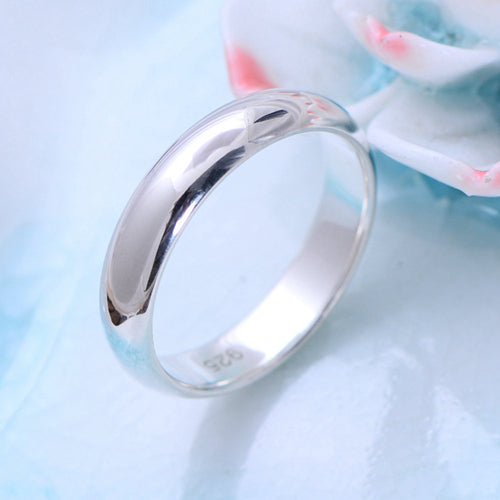 Real 925 Sterling Silver Ring Classic Vintage Couples Simple Size 5 6 7 8 9 10