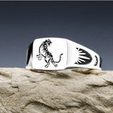 Real 925 Sterling Silver Ring Chinese Zodiac Open Size 4 5 6 7 8 9 10 11 12 13