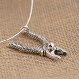 Real 925 Sterling Silver Pendant Pliers Skull