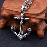 Real 925 Sterling Silver Pendant Anchor Skull