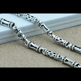 "Real 925 Sterling Silver Necklace Cylinder Geometry Hollow Link Chain Men's 18"" - 24"""