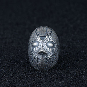 Real 925 Sterling Silver Ring Skull Mask Open Size 8 9 10 11 12