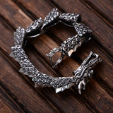 Real 925 Sterling Silver Bracelet Link Dragon Scales Chain