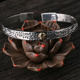 Real Solid 925 Sterling Silver Cuff Bracelet Skull Rose Braided Men's Women's