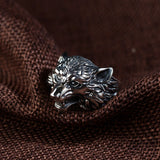 Real 925 Sterling Silver Ring Wolf Adjustable Size 8 9 10 11 12