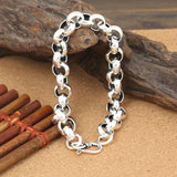 Real 925 Sterling Silver Bracelet Loop O Link