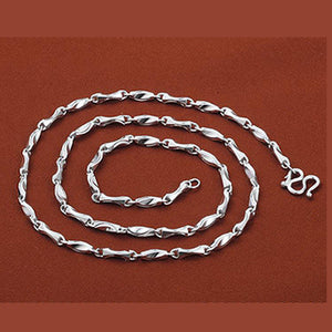 Real Solid 925 Sterling Silver Ingot Links Chain Polished Men's Necklace 20""