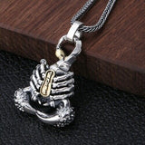 Real 925 Sterling Silver Pendant Scorpion Om mani padme hum