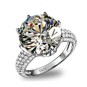 Fashion Sapphire Wedding Ring Women's Zircon 18Kt White Gold Plated Size 6 7 8 9