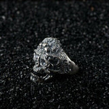 Real 925 Sterling Silver Ring Skull Open Size 8 9 10 11 12
