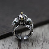 Real 925 Sterling Silver Ring General Warrior Knight Open Size 8 9 10 11