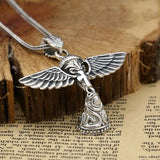 Real 925 Sterling Silver Pendant Angel's Wings Bell