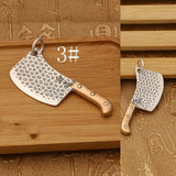Real 925 Sterling Silver Pendant Kitchen Knife Jewelry
