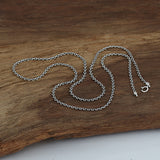 "Real Solid 925 Sterling Silver Necklace Chain O Loop Men's 18""-24"""