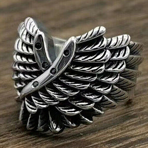 Real 925 Sterling Silver Ring Feather Wing Open Size 8 9 10 11 12