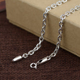 "Real 925 Sterling Silver Necklace Long-Circle Link Loop Chain 18"" - 32"""