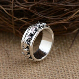 Real 925 Sterling Silver Ring Elephant Rotation Size 9 10 11 12