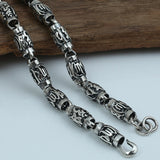 "Heavy Solid 925 Sterling Thai Silver Cylinder Lection Chain Necklace 8mm 20""-26"""