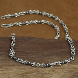 "Genuine Solid Sterling Silver Thai Silver Vajra Chain Men's Necklace 5mm 18""-32"""
