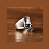 Men's Real 925 Sterling Silver Ring Smooth skull Size 8 9 10 11 12