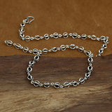 "Real Solid 925 Sterling Thai Silver Hollow Lantern Chain Men's Necklace 20""-26"""