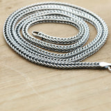 "Real Solid 925 Sterling Silver Necklace Snake Bone Chain 18"" 20"" 22"" 24"""