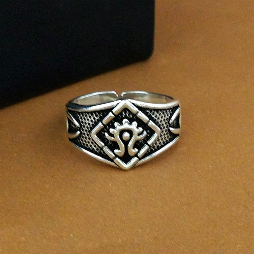 Real 925 Sterling Silver Ring Fire Totem Open Size 6 7 8 9